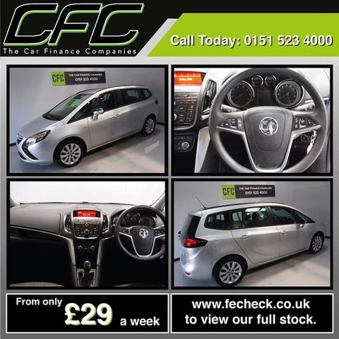 2016 Vauxhall Zafira Tourer 1.4i 16v Turbo Design (66 reg)