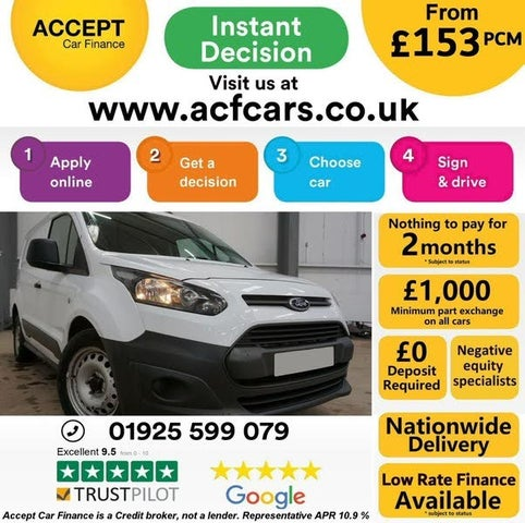 2016 Ford Transit Connect 1.6TDCi L1 200 Panel (16 reg)