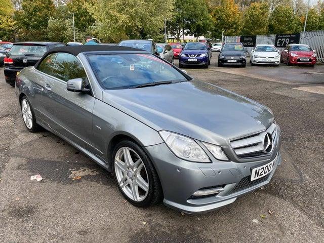 2012 Mercedes-Benz E-Class 2.1TD E250 CDI Sport (201bhp) CDI BlueEFFICIENCY Cabriolet 2d 7G-Tronic (00 reg)
