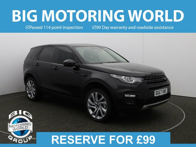 2017 Land Rover Discovery Sport 2.0Td4 HSE Black SUV (67 reg)