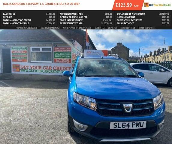 2014 Dacia Sandero Stepway 1.5D Laureate (64 reg)