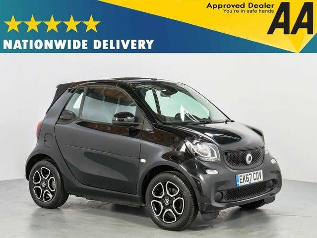 2017 Smart fortwo 1.0 Prime (70bhp) (Premium)(s/s) Cabriolet Twinamic (67 reg)