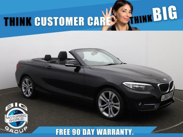 2015 BMW 2 Series 1.5 218i Sport Convertible 2d (65 reg)