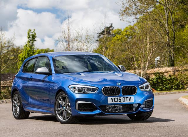 BMW 1 Series LCI front, blue M140i