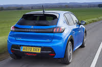 2019 Peugeot 208, 2019-2020 Peugeot 208 blue, rear three-quarters, driving, gallery_worthy