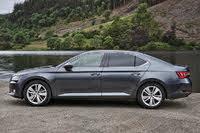 2015 Skoda Superb, 2015-2020 Skoda Superb hatch, grey, side profile, static, gallery_worthy