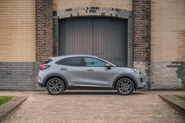 2019-2020 Ford Puma SUV, grey, side profile, static