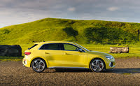 2021-2021 Audi S3, yellow, side profile, static, gallery_worthy